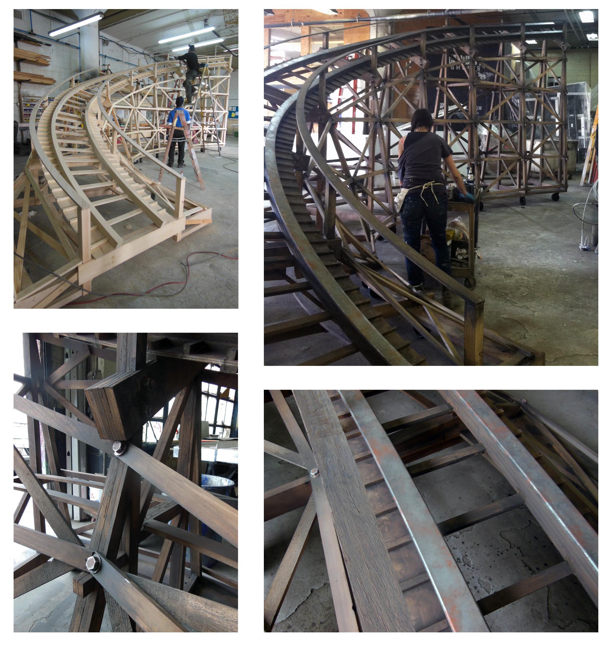 Roller Coaster in Progress Assembly
