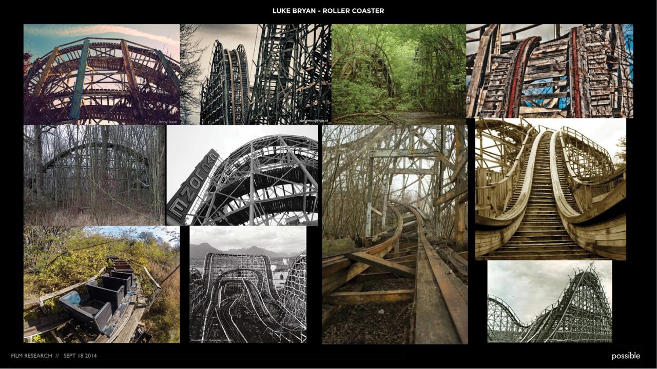 Luke Bryan_Abandoned Rollercoaster Renderings References