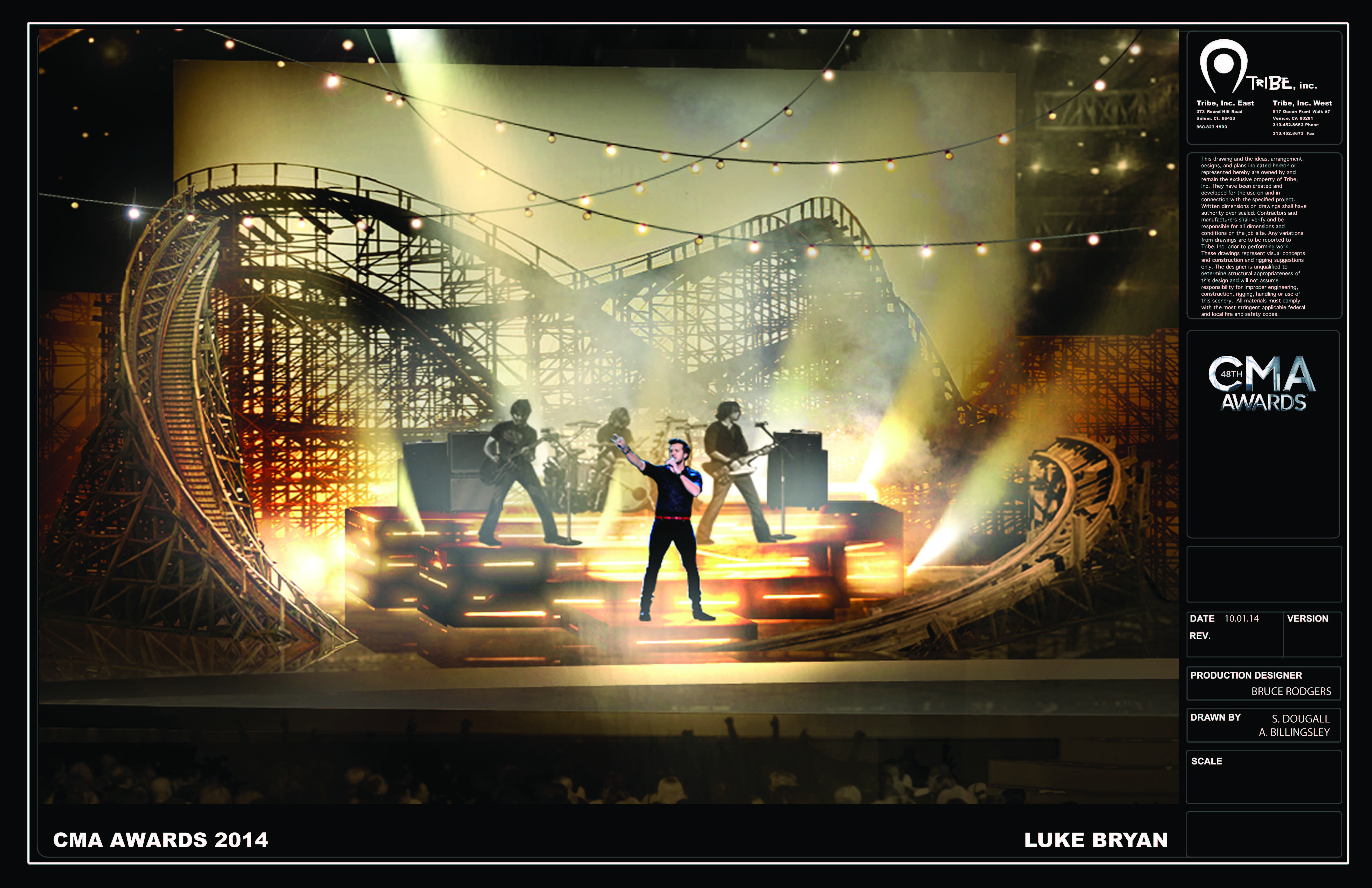 Supplied CMA Awards 2014 Rendering